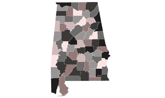 Alabama State News.Net - map